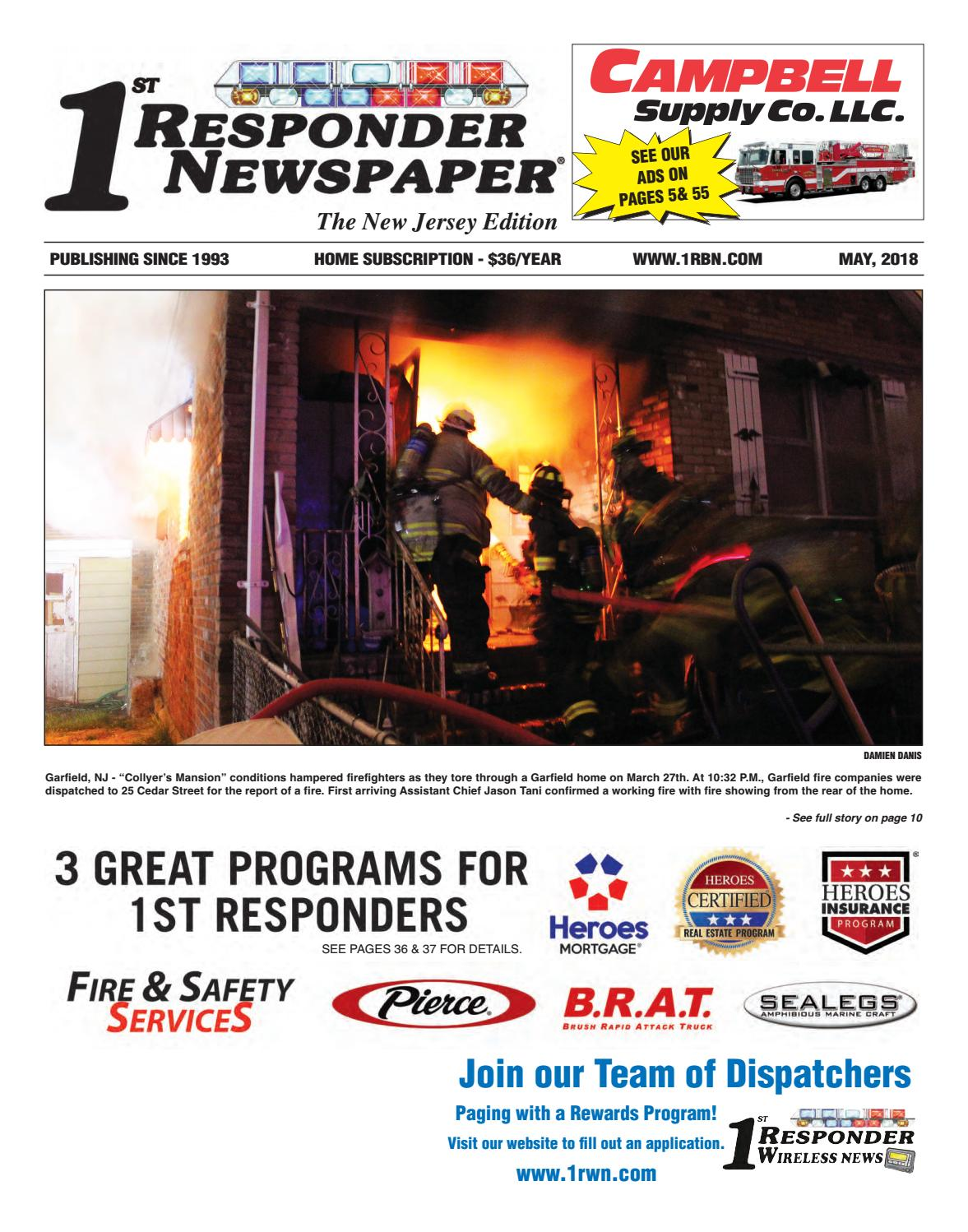 1st Responder New Jersey May Edition by Belsito Communications Inc. - issuu