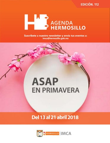 "Cover of ""Agenda Hermosillo 13 abril 2018"""