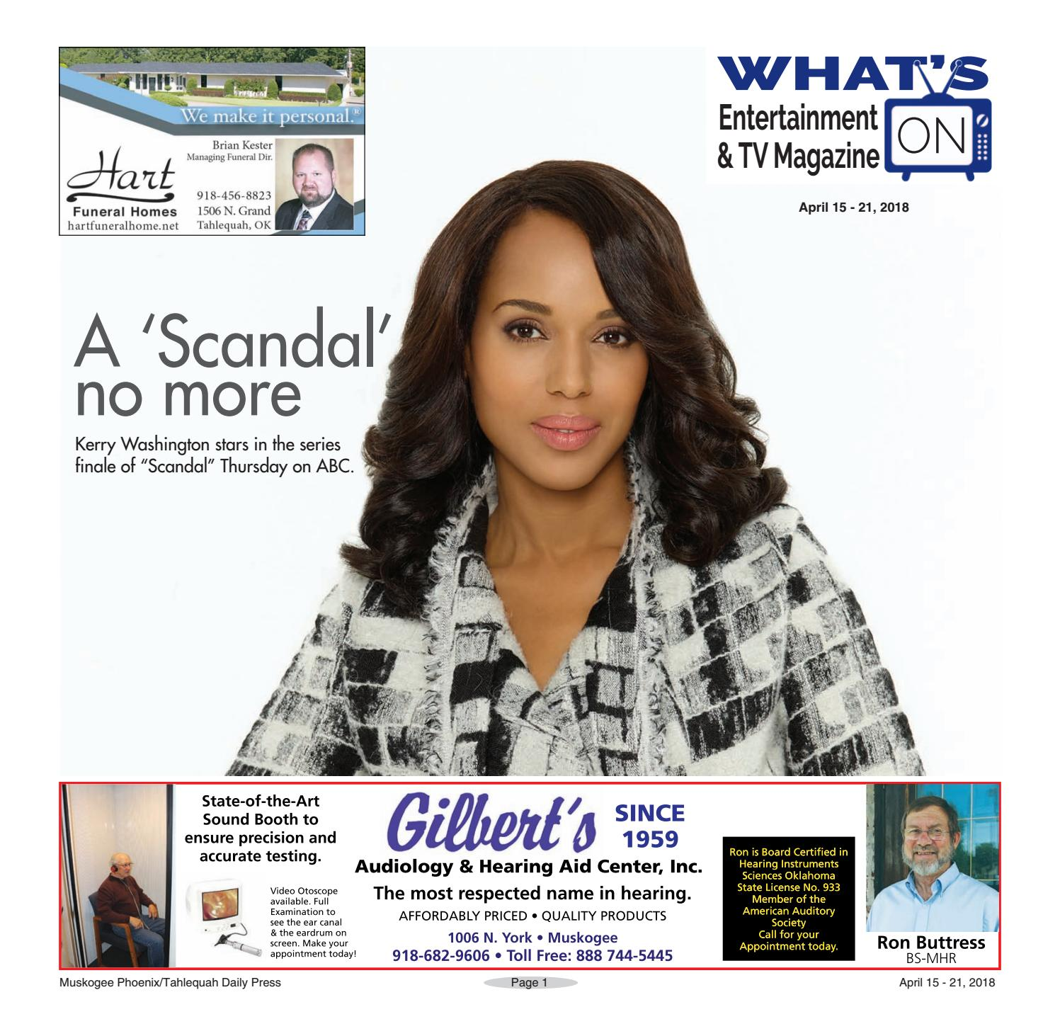 What s on TV 04 15 18 by muskogeephoenix issuu