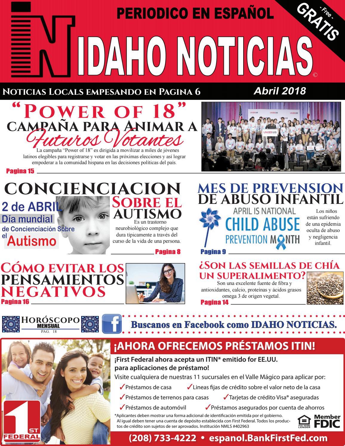 Idaho Noticias Periodico en español Edicion Abril 2018 by Idaho ...