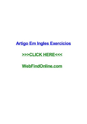 Artigo Em Ingles Exercicios By Justinaeax Issuu