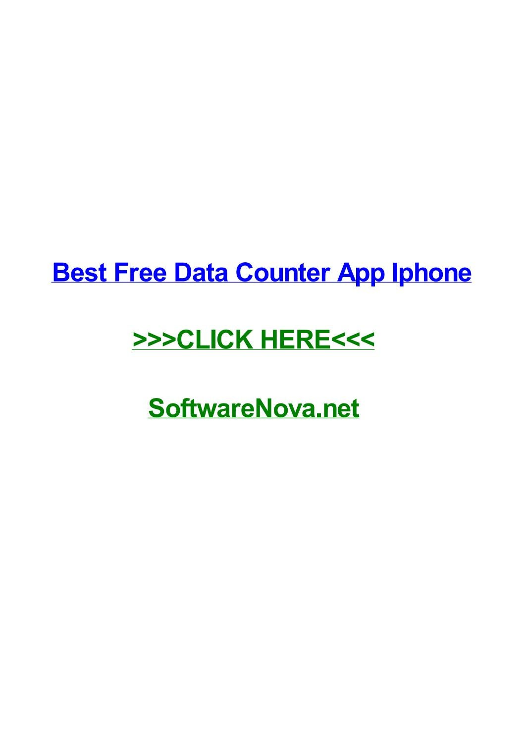 Best free data counter app iphone by tiffanyrarzd - issuu