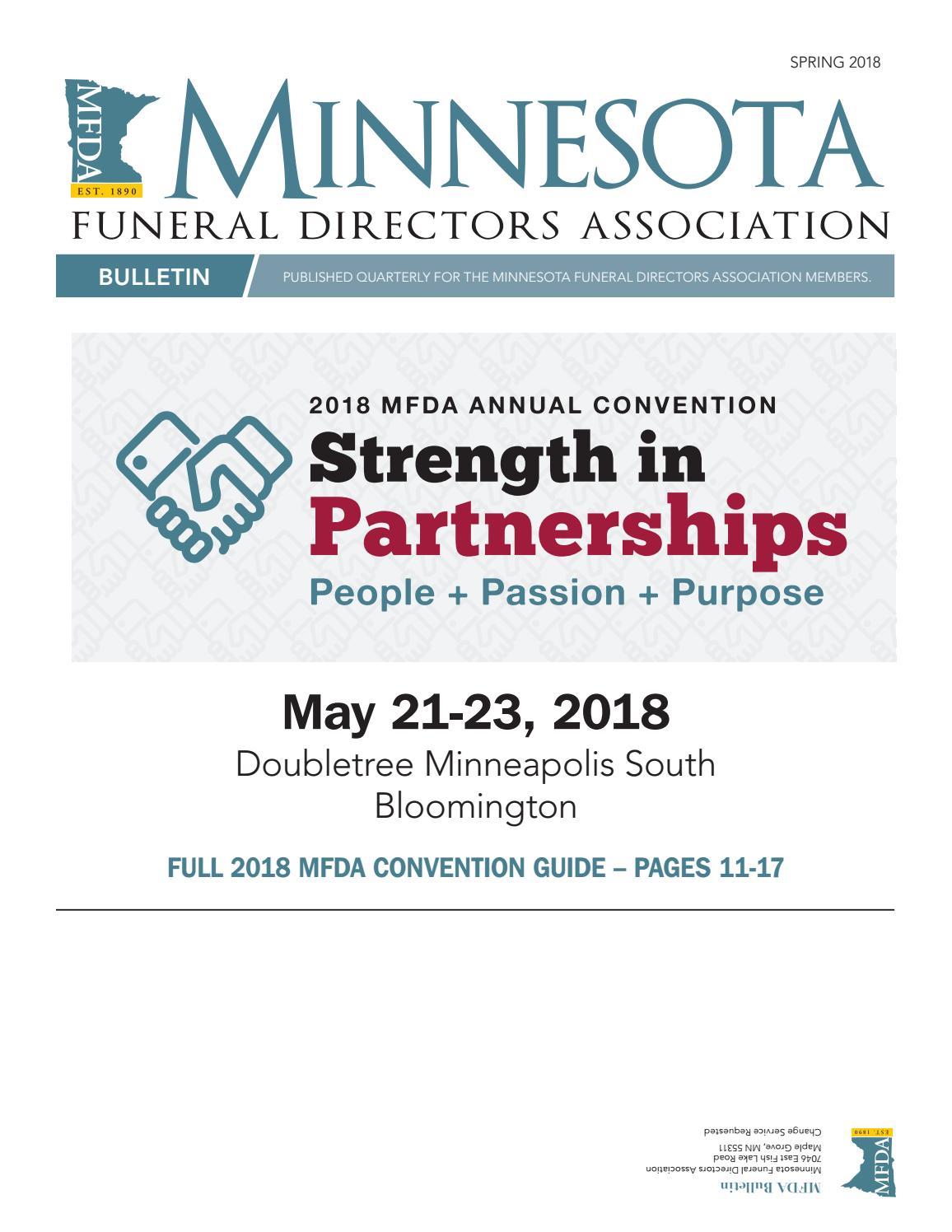 MFDA Bulletin Spring 2018 by Pernsteiner Creative Group, Inc  - issuu