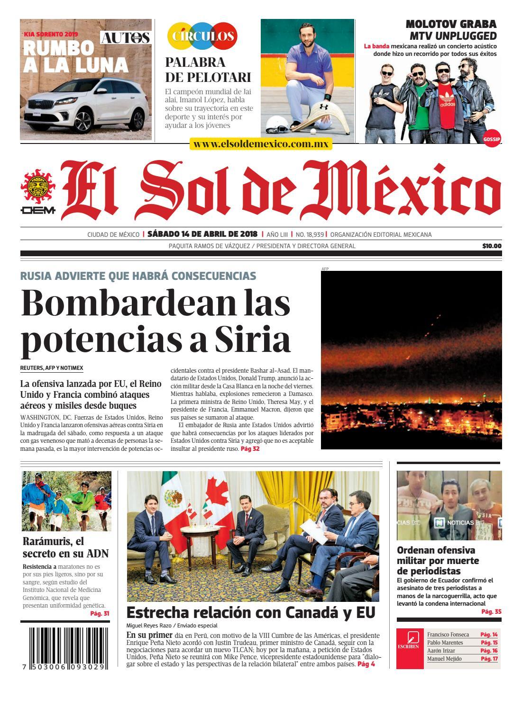 El Sol de México 14 de abril 2018 by El Sol de México - issuu ecc44e44249b5