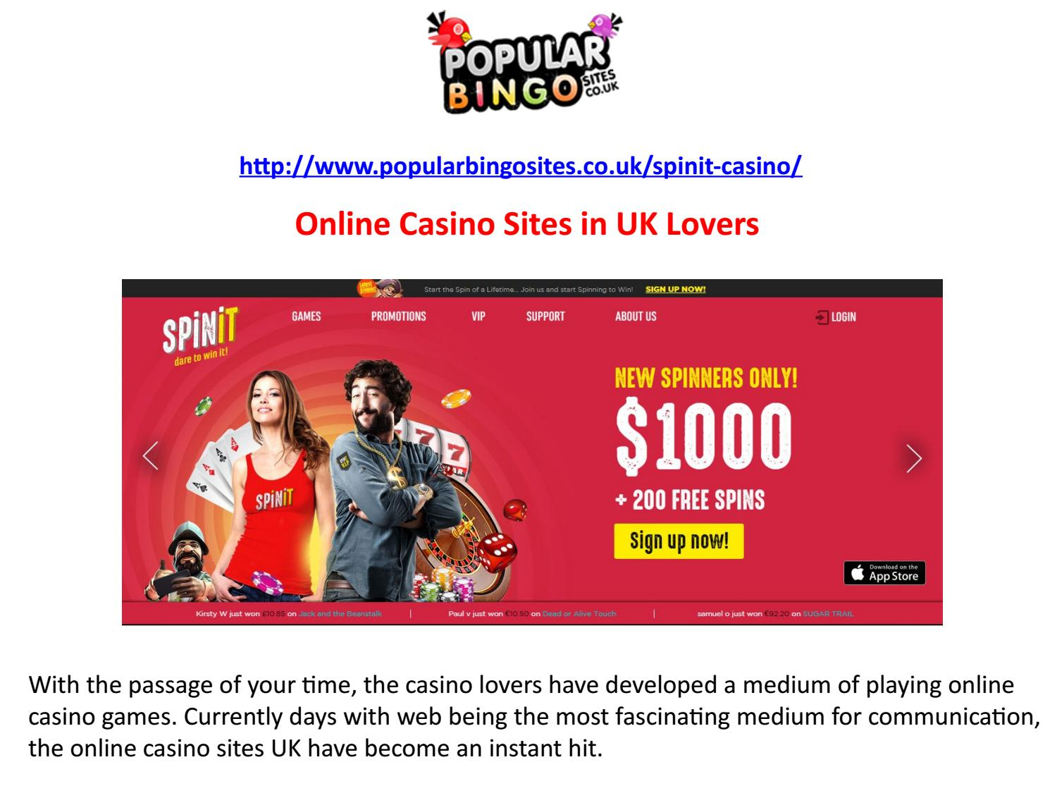 Uk Online Casino Sites