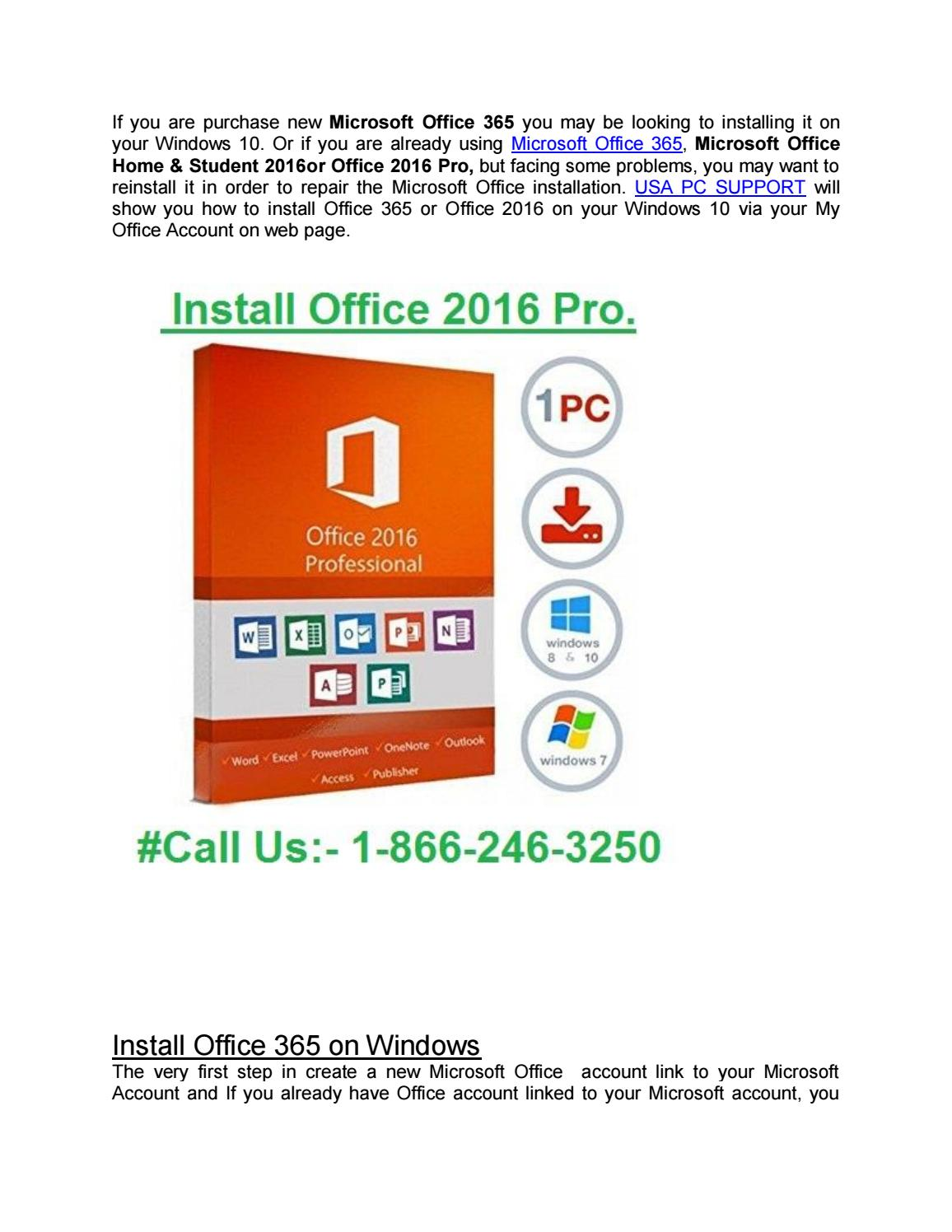 How to install office 2016 on windows 10 by Microsoft_Office - issuu