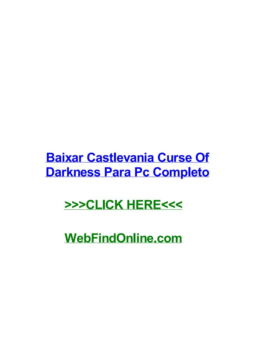 OF DARKNESS CASTLEVANIA PARA PC CURSE COMPLETO BAIXAR