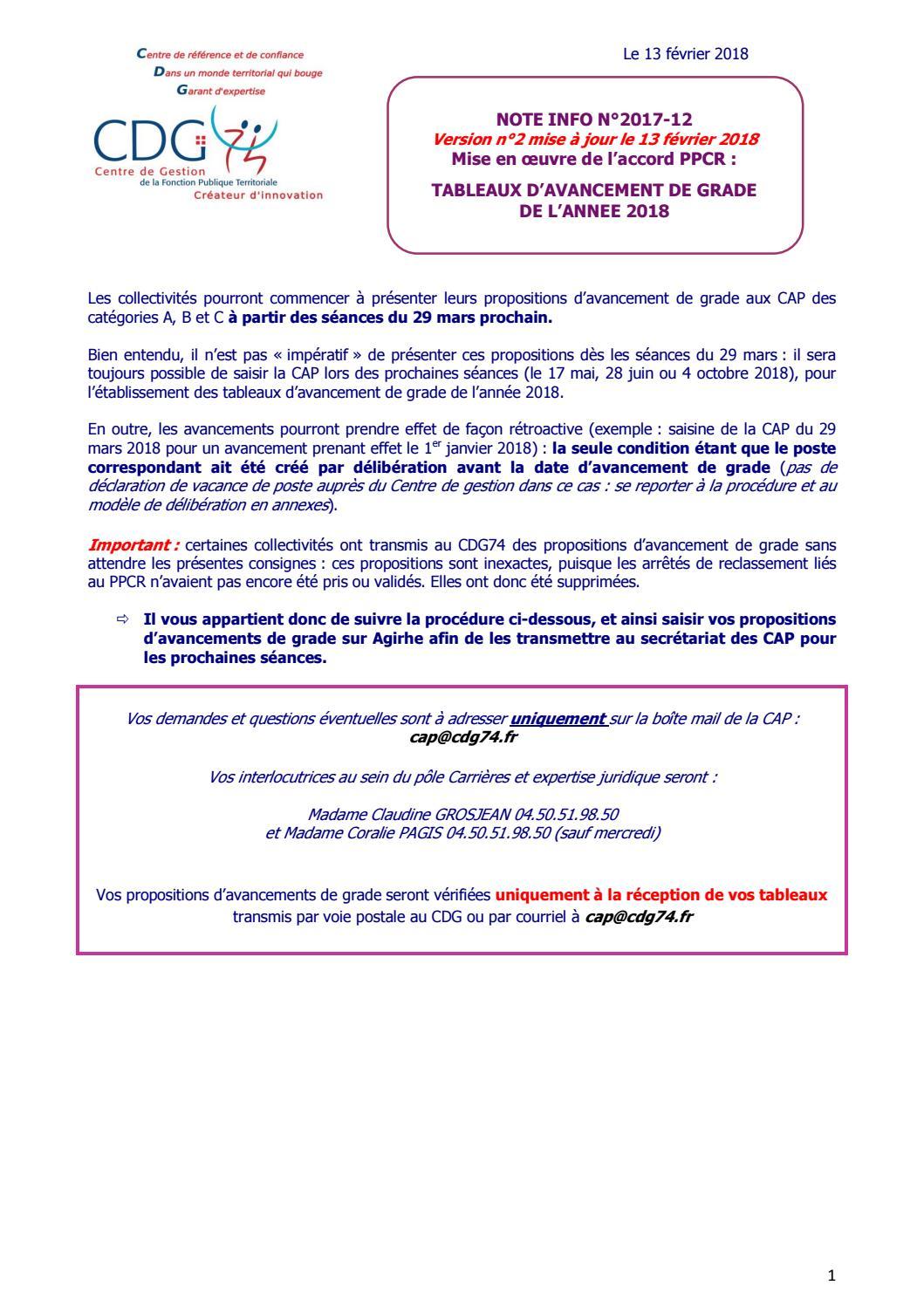 Cdg 74note Info Ndeg 2017 12 Gestion Des Tableaux Davancement De