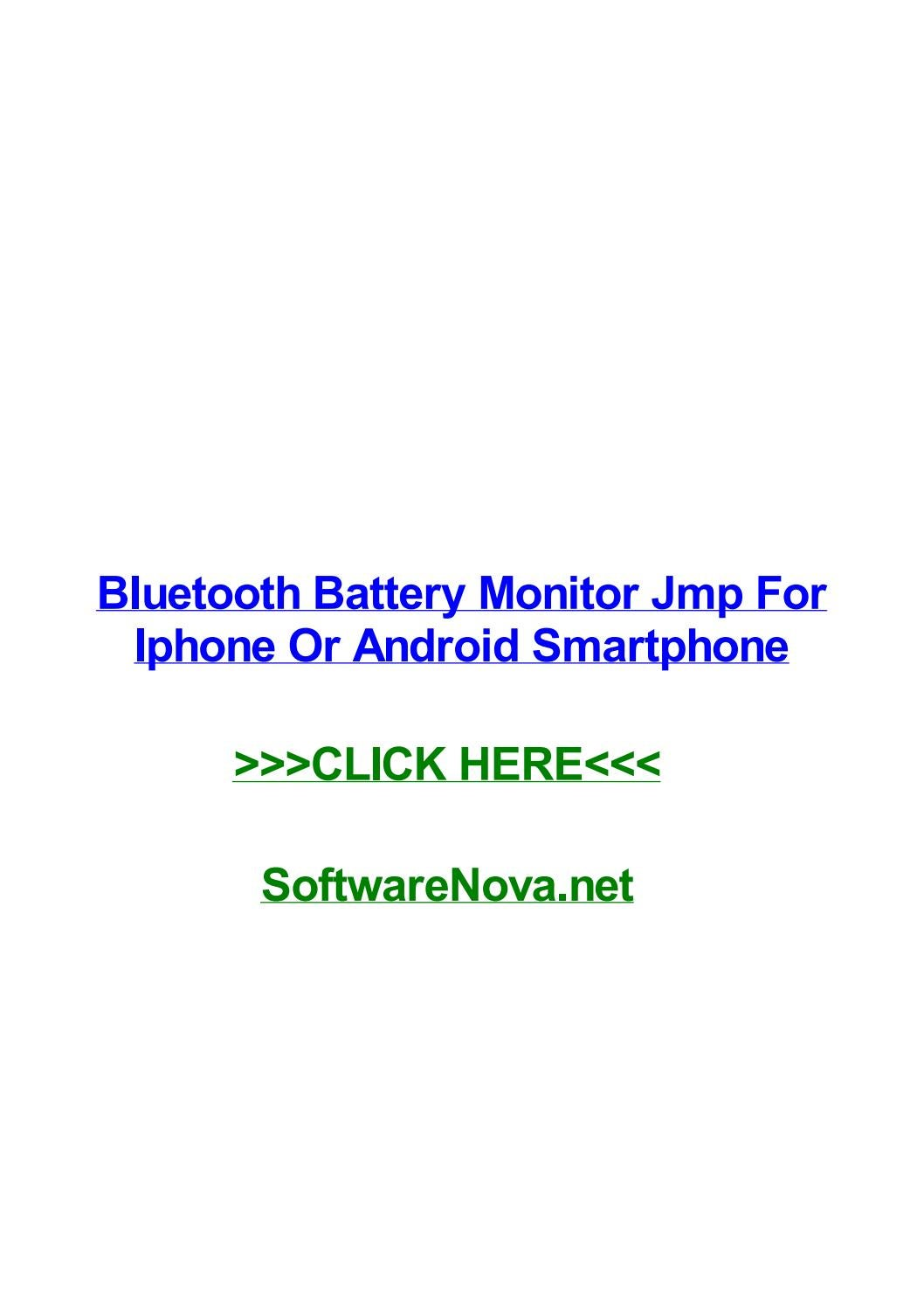 Bluetooth battery monitor jmp for iphone or android