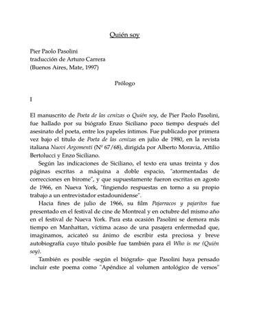 Pasolini poeta de las cenizas by Gloria G  Fons - issuu