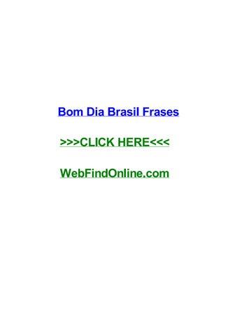 Bom Dia Brasil Frases By Antwanpcgt Issuu