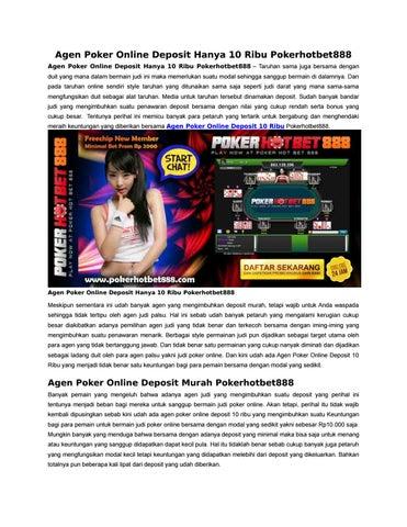 Agen Poker Online Deposit Hanya 10 Ribu Pokerhotbet888 By Hotbet888 Issuu
