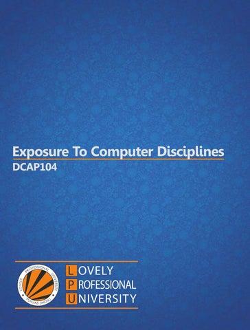 dcap104 exposure to computer discplines by pandeysonu786 issuu