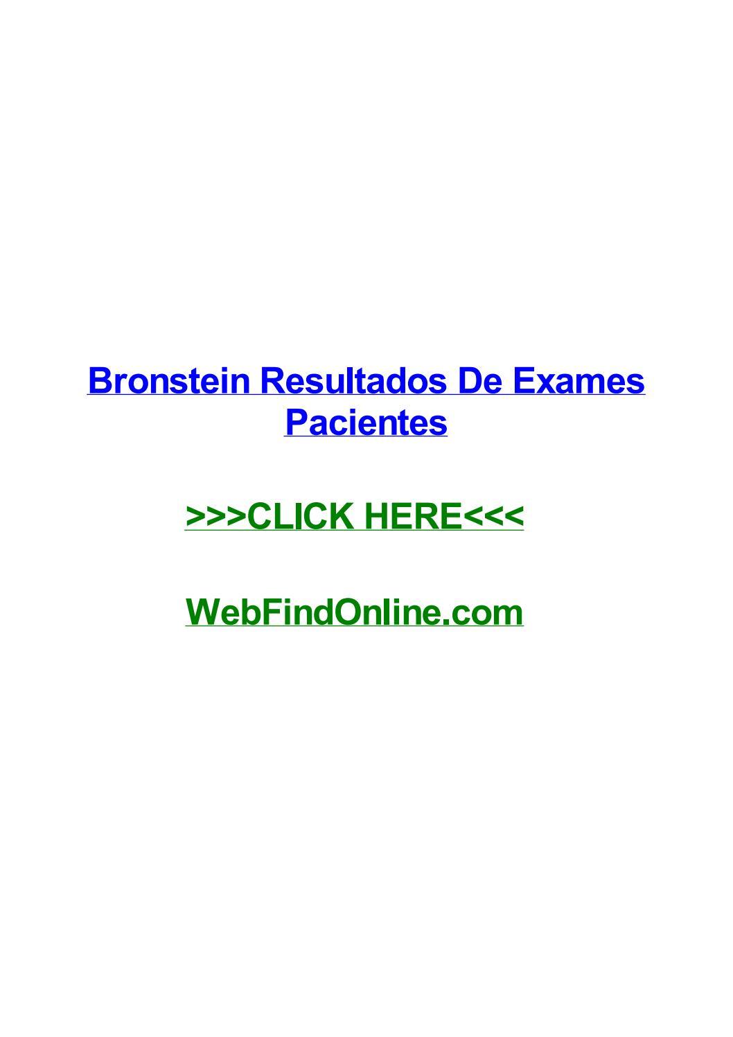 Bronstein resultado de exame de sangue