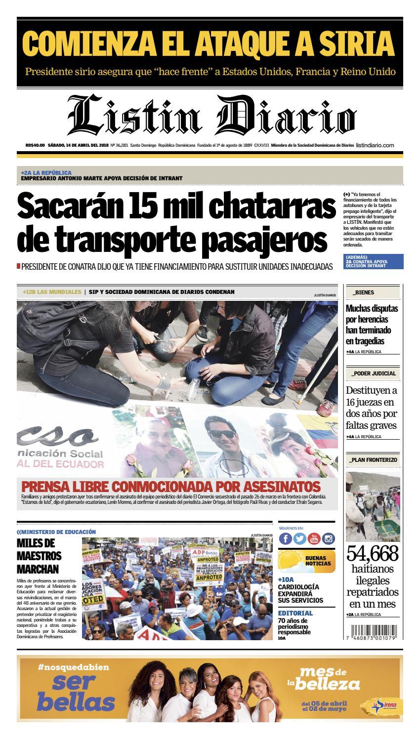 LD 14-04-2018 by Listín Diario - issuu