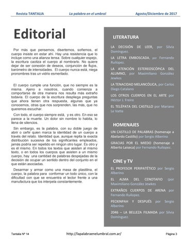 Page 3 of Editorial e Indice