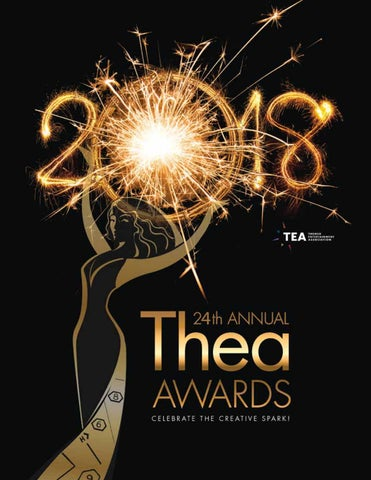 TEA Thea Awards Program 2018 24th Annual By Themed Entertainment