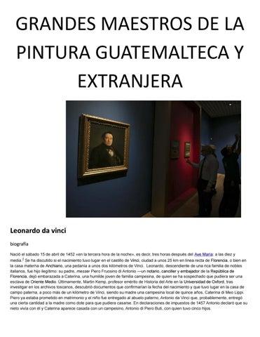 Grandes Maestros De La Pintura Guatemalteca y Extranjera by ...