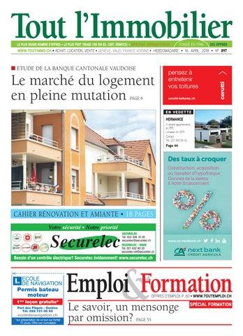 Tout Limmobilier Emploi Et Formation Du 160418 By L