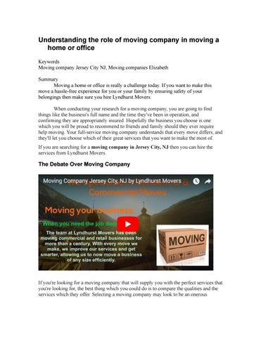 understanding the role of moving company in moving a home or office rh issuu com making a homeless application moving a honeysuckle