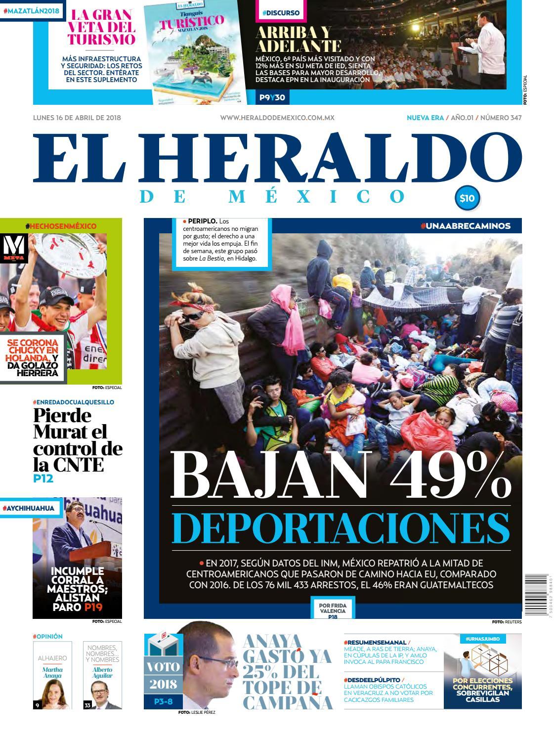 cebbb64870 Heraldo 16 de abril by El Heraldo de México - issuu