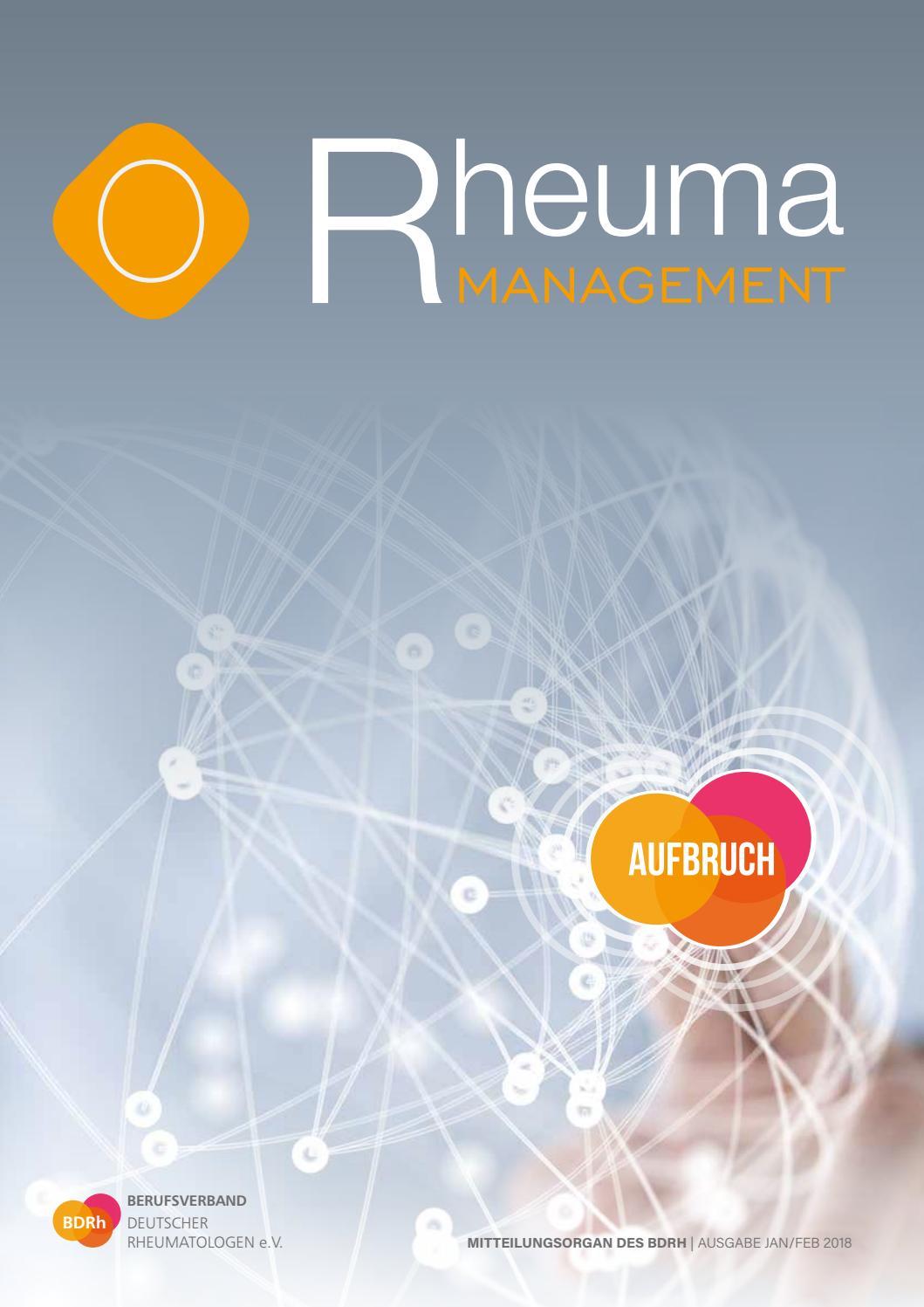 Rheuma Management, Ausgabe Januar/Februar 2018 by Rheuma Management ...