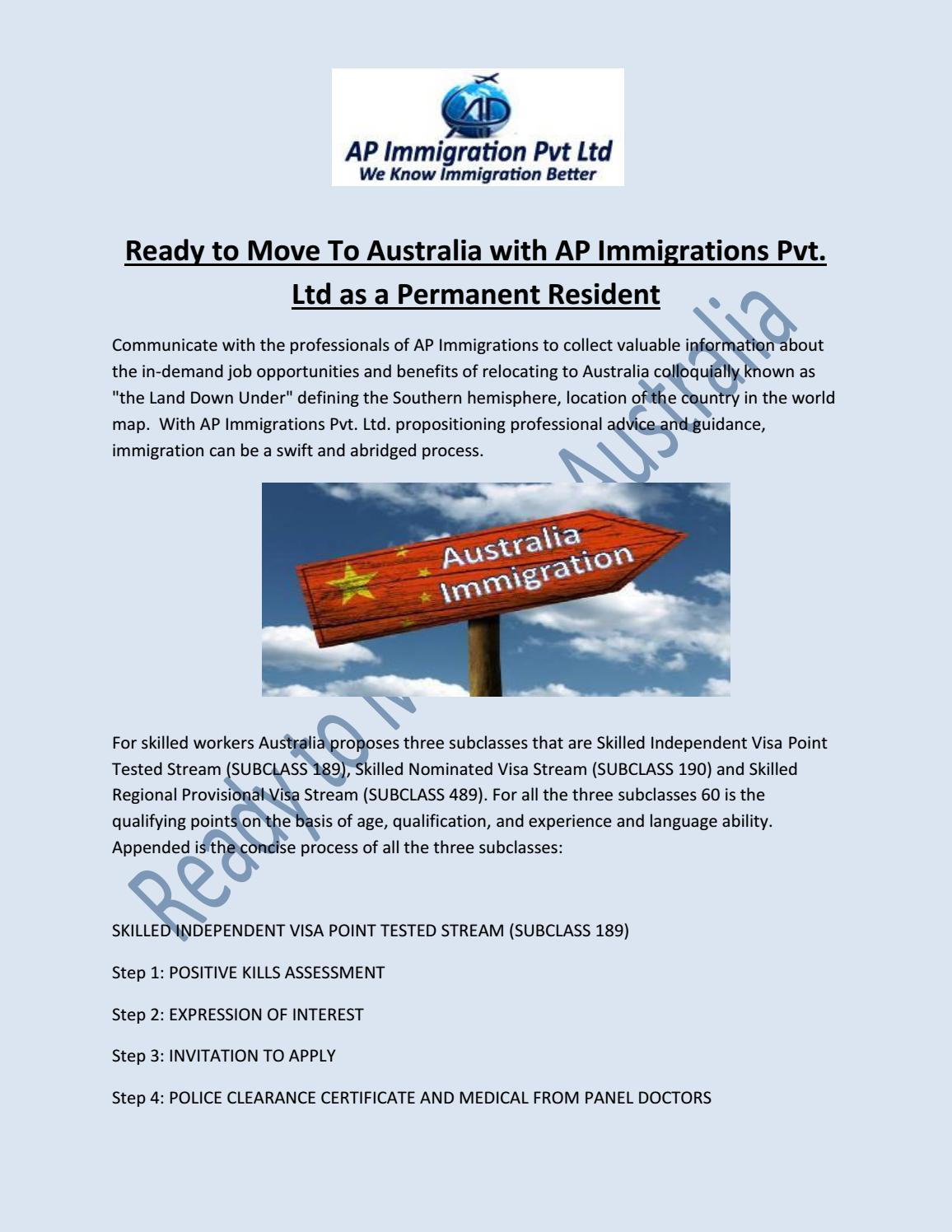 Ready to move to australia with ap immigrations pvt by Shweta