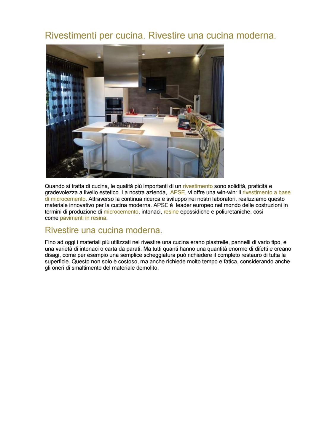 Pannelli Di Rivestimento Per Cucine.Rivestimenti Per Cucina By Minirasex Issuu