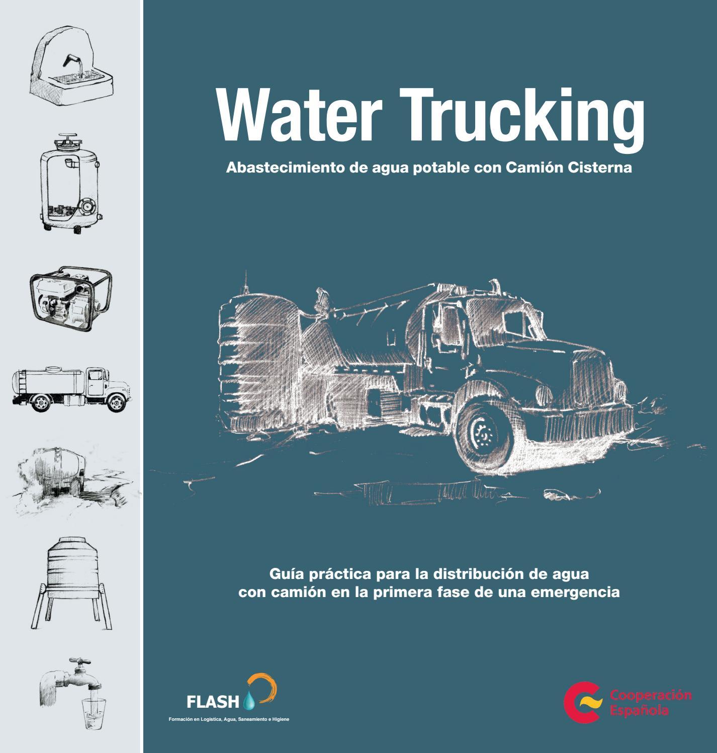Water Trucking. Abastecimiento de agua potable con camión cisterna ...