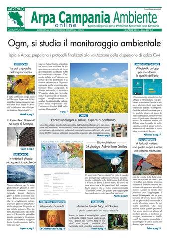 Arpa Campania Ambiente 2018 7 By Arpa Campania Servizio
