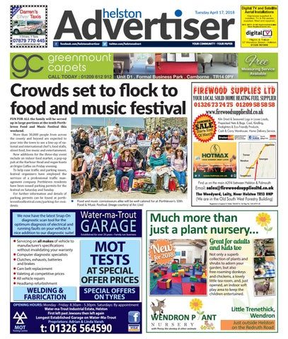 super popular 64fed 8e97b Helston Advertiser - April 17th 2018 by Helston Advertiser - issuu