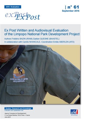 Ex Post Written and Audiovisual Evaluation of the Limpopo National