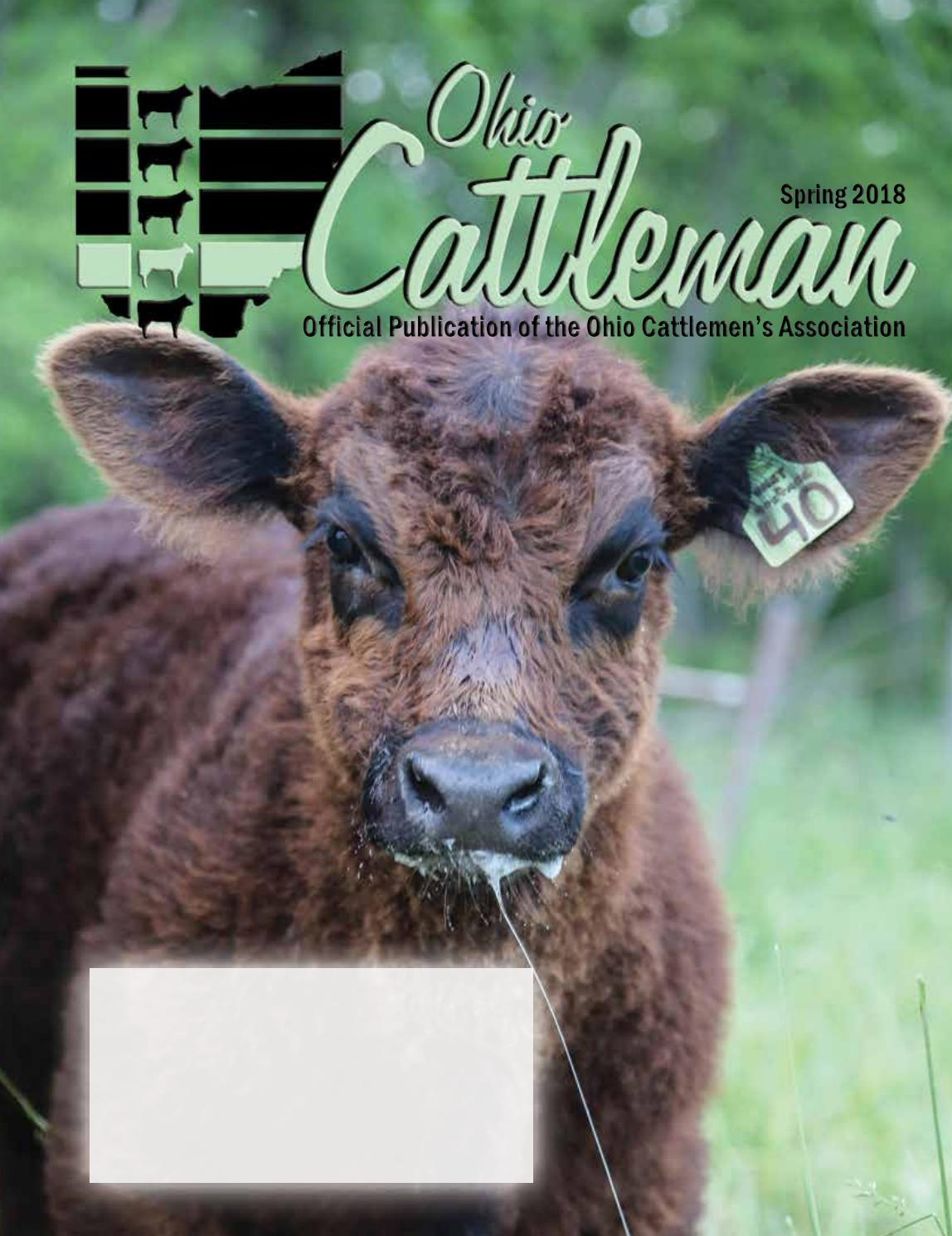 Ohio Cattleman Spring Issue 2018 By Ohio Cattlemen S Association