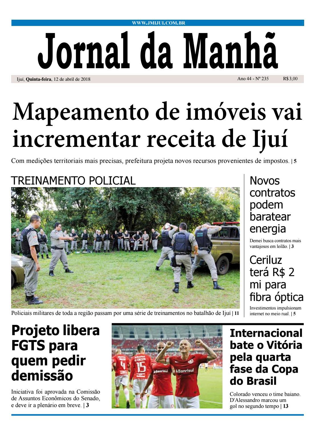 2880172fe Jornal da Manhã - Quinta-feira - 12-04-2018 by clicjm - issuu