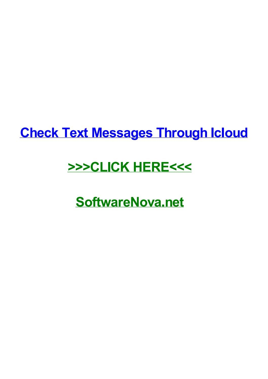 Check text messages through icloud by anniehmpo - issuu