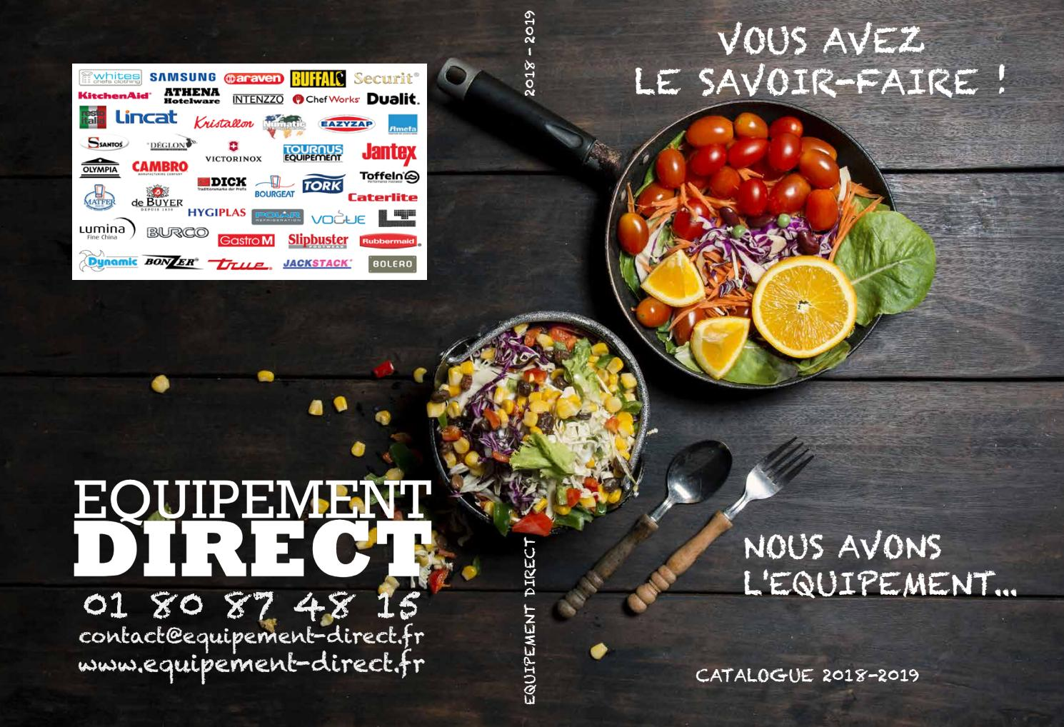 Catalogue g n ral 2018 equipement direct fr by equipement direct issuu - Direct equipement cuisine nobilia ...