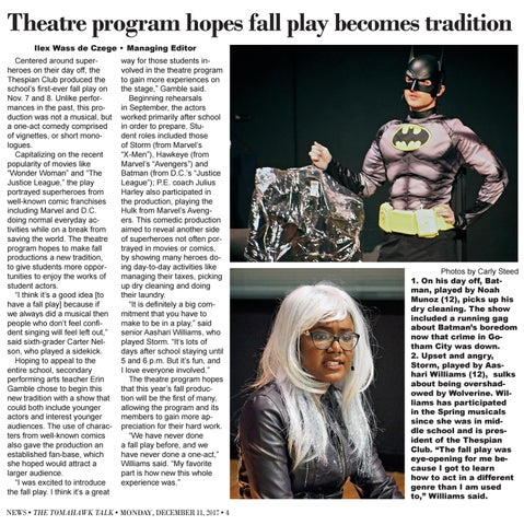 Page 4 of Theatre program hopes fall play becomes tradition