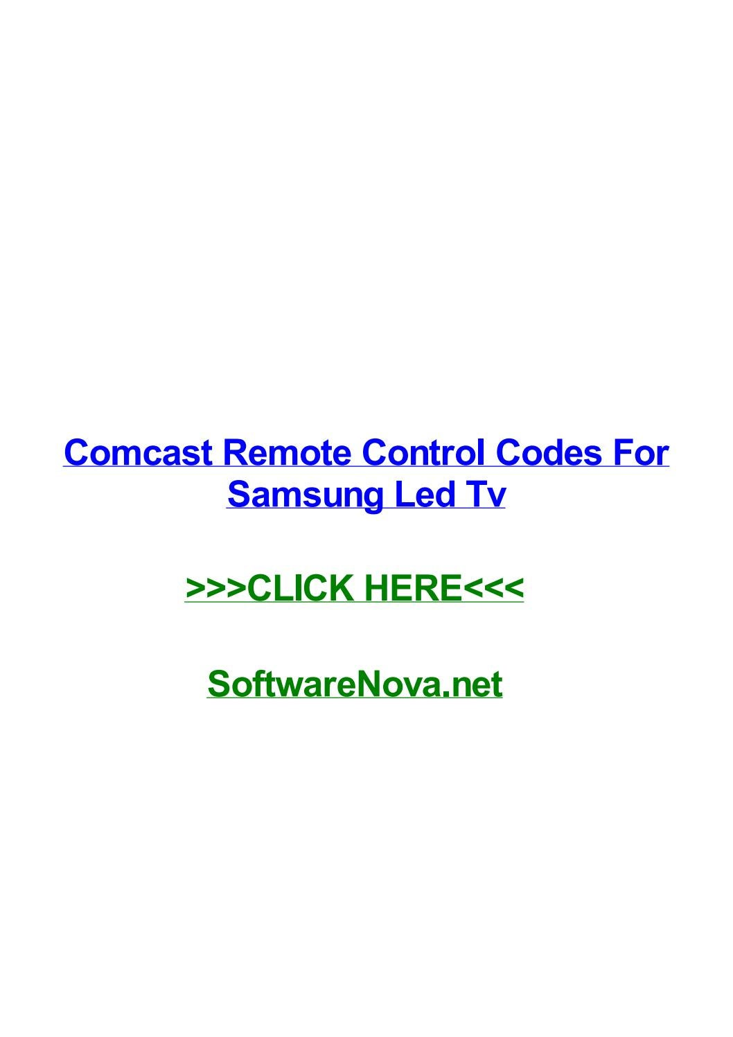 Comcast Remote Control Codes For Samsung Led Tv By Albertozsbdr Issuu