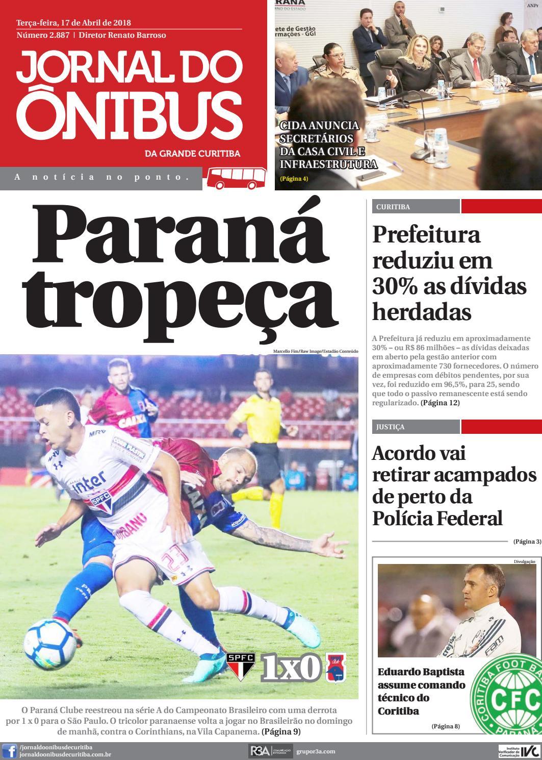 Jornal do Ônibus de Curitiba - 17 04 18 by Editora Correio Paranaense -  issuu 2c93146f335ad