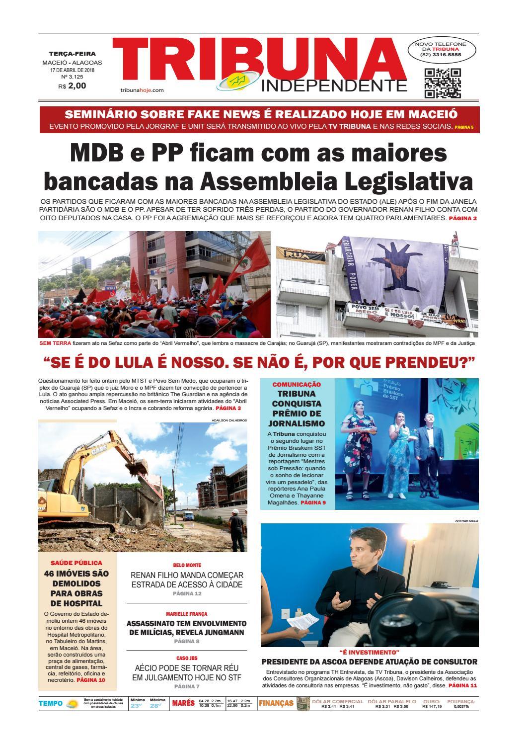 Edição número 3125 - 17 de abril de 2018 by Tribuna Hoje - issuu 4e9e9e0576d5b