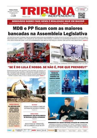 e0955643102 Edição número 3125 - 17 de abril de 2018 by Tribuna Hoje - issuu
