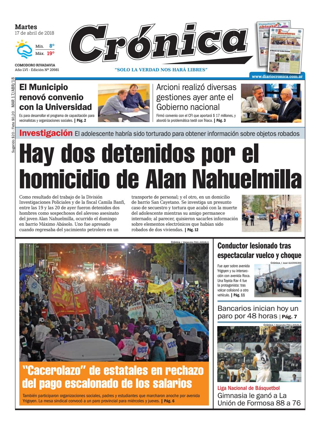 separation shoes 047dd a171b Diario cronica 17 04 2018 by Diario Crónica - issuu