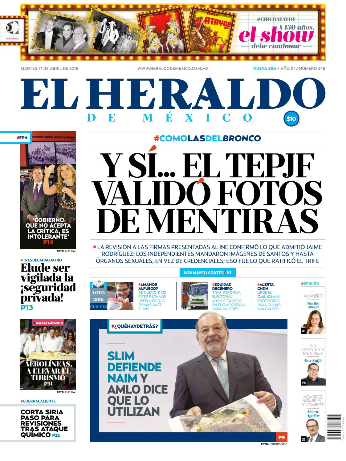 49914b54ced79 Heraldo 17 de abril by El Heraldo de México - issuu