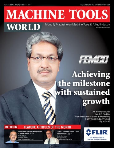 MACHINE TOOLS WORLD - APRIL 2018 by Divya Media Publications Pvt
