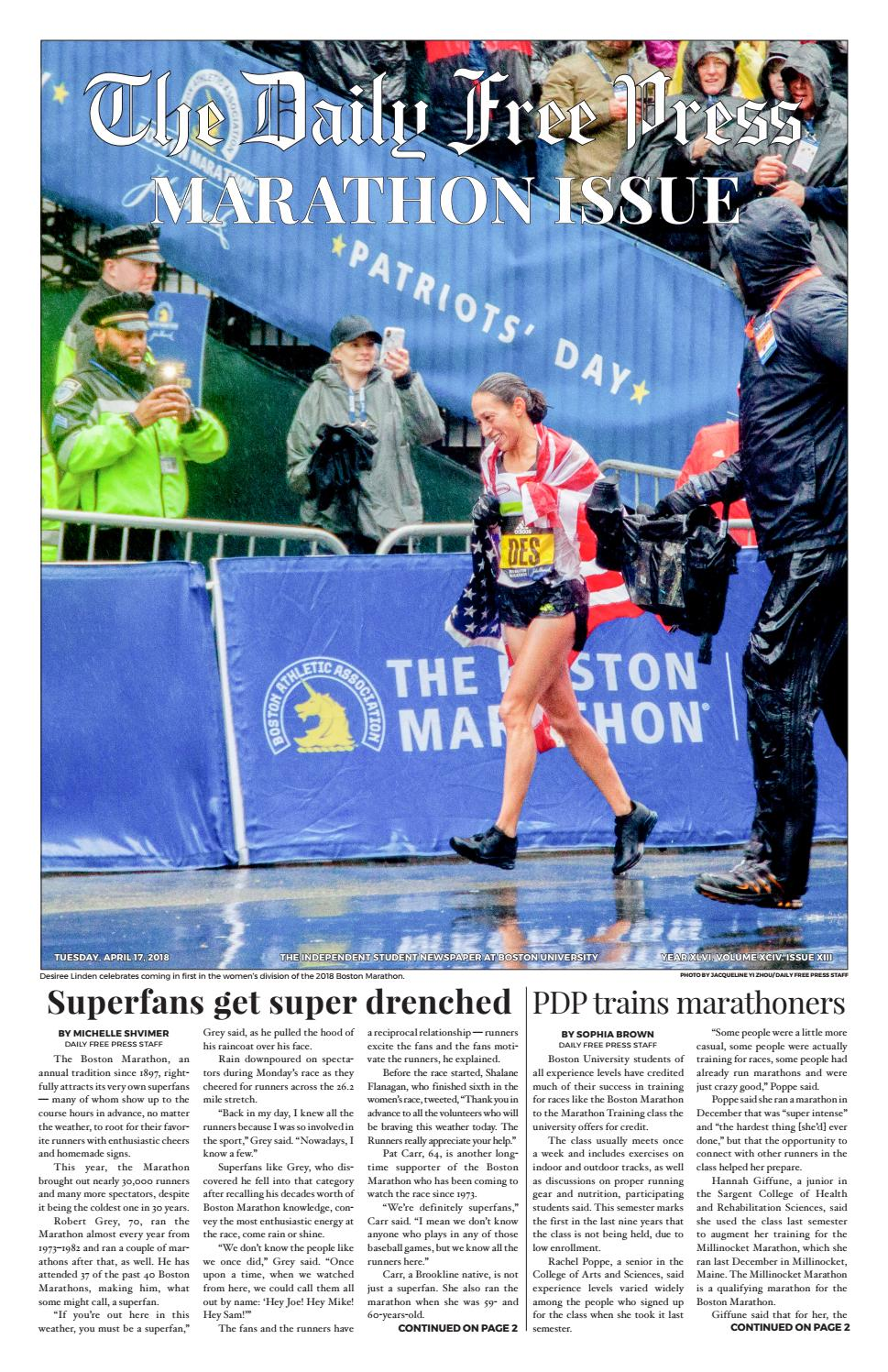 2d4512d04c3383 4-17-18 by The Daily Free Press - issuu