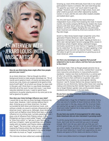 Page 10 of An Interview with Jerard Louis: Indie Music Artist
