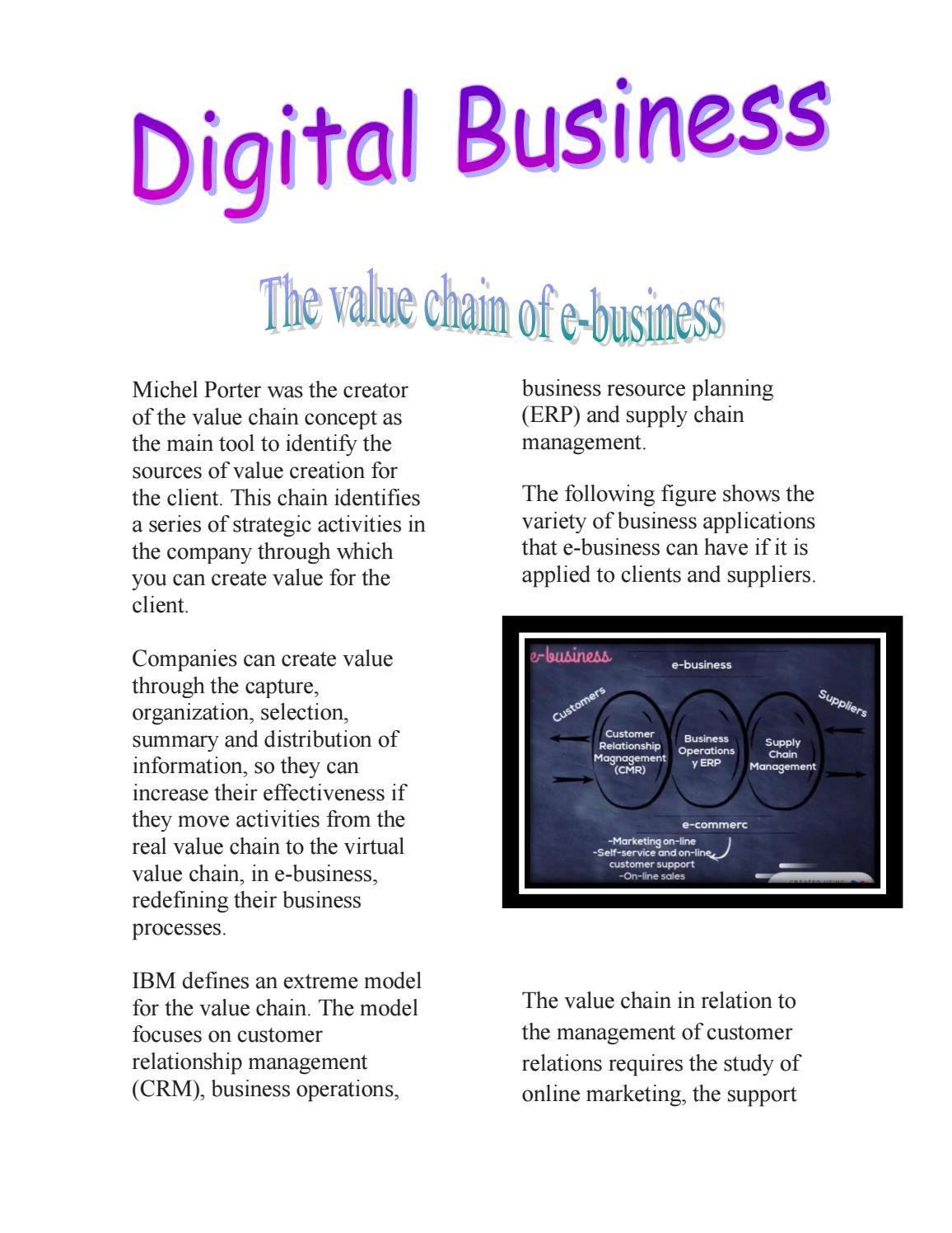 The Value Chain Of E Business By Carol Estefany Moreno Salazar Issuu