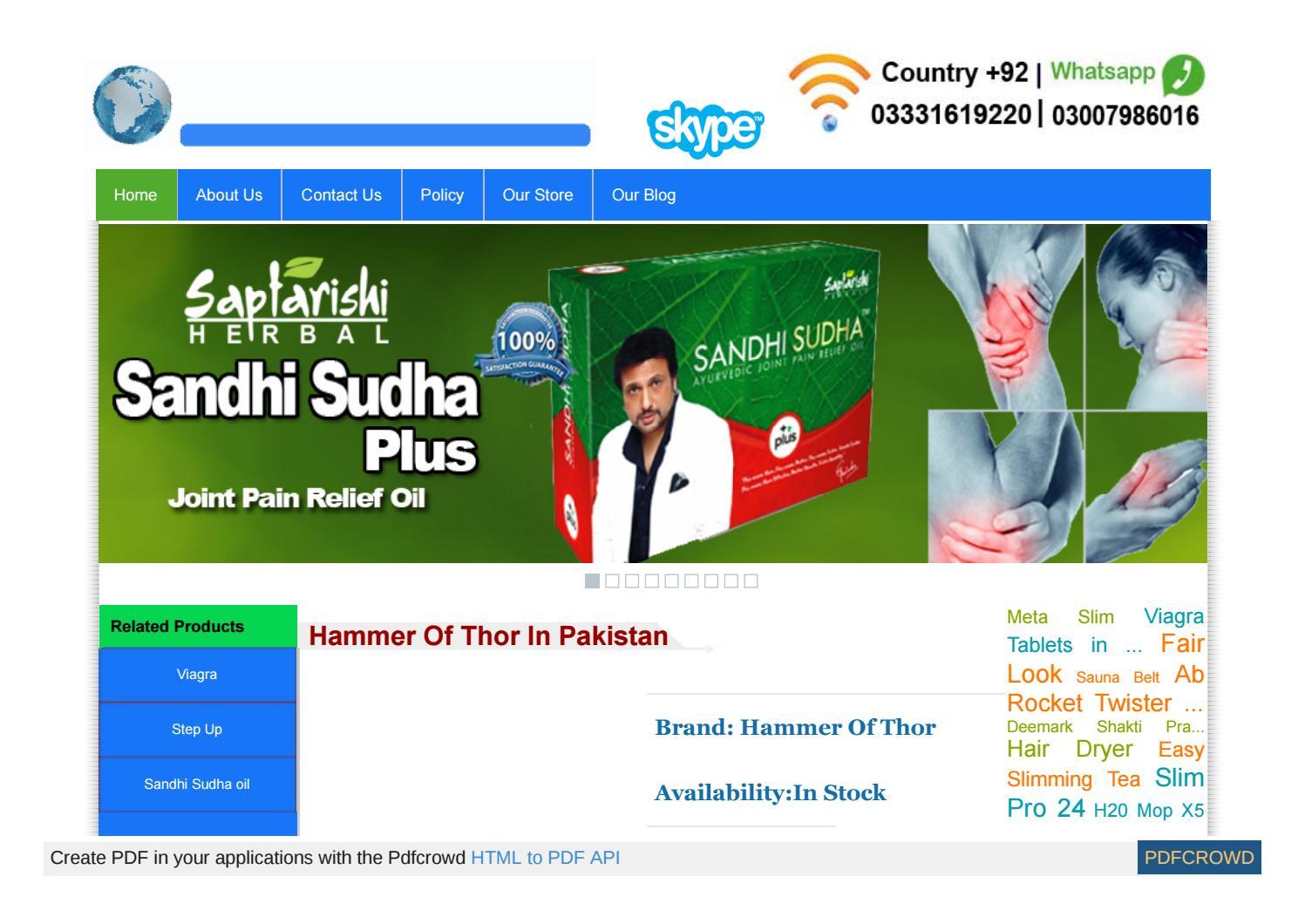 www shoppakistan com pk 61 health 14 hammer of thor price pa by