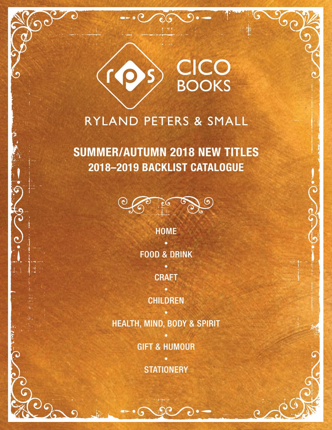 Autumn Catalogue 2018 By Ryland Peters & Small And Cico