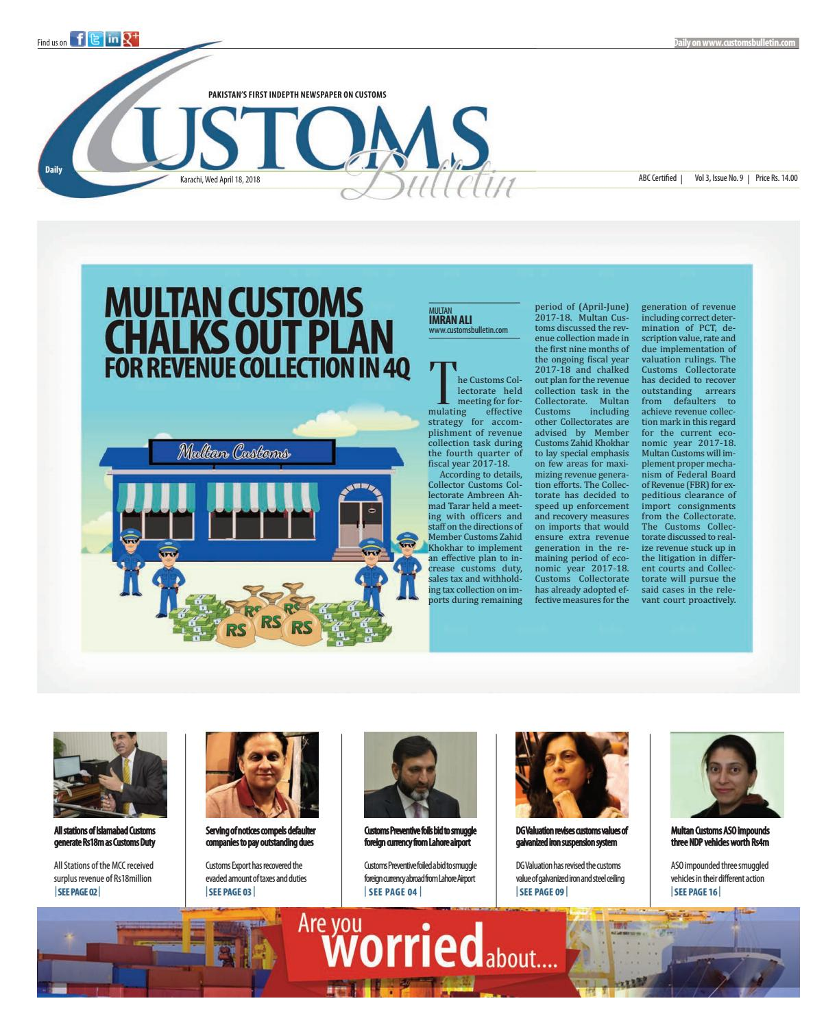 Wednesday, 18 April 2018 by customs bulletin - issuu